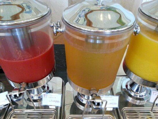 ザ・プリンス 箱根芦ノ湖の朝食のジュース