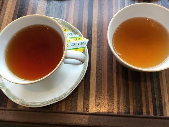 紅茶とほうじ茶