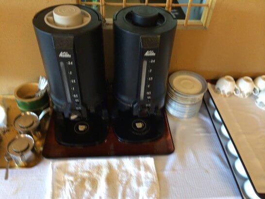 界 伊東の朝食後のコーヒー