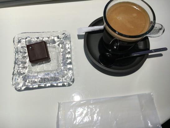 ダイナースクラブ 銀座ラウンジのブルガリ イル・チョコラートとコーヒー