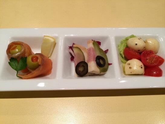伊勢丹のレストランのコース(前菜)