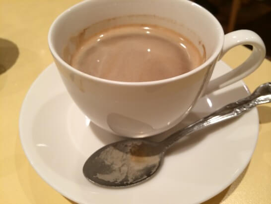 伊勢丹のレストランのコース(コーヒー)