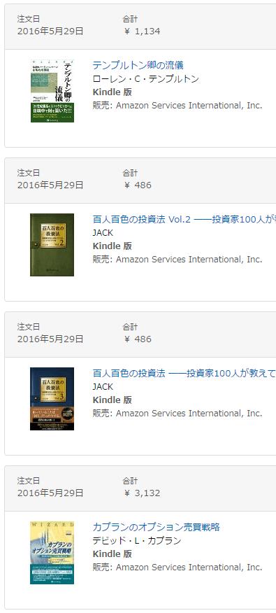 Amazonでの購入履歴