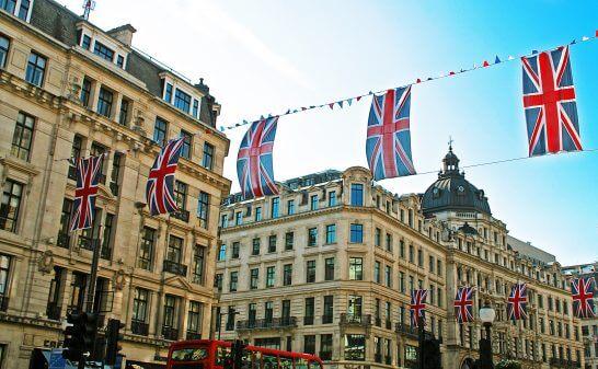 英国のロンドンの街並み