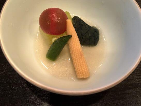 休暇村奥武蔵の夕食のお野菜