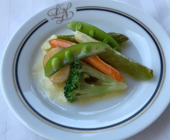 ホテルニューグランドのル・ノルマンディの野菜