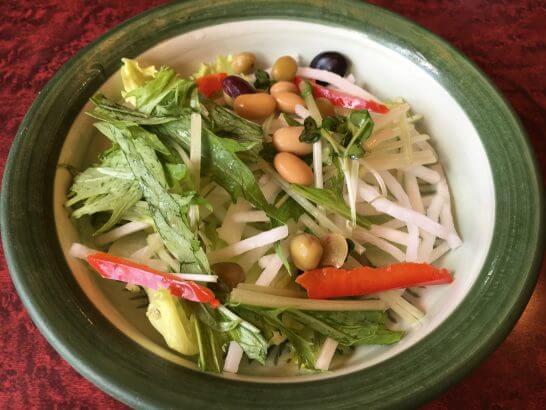 ゼンショーの華屋与兵衛の豆のサラダ