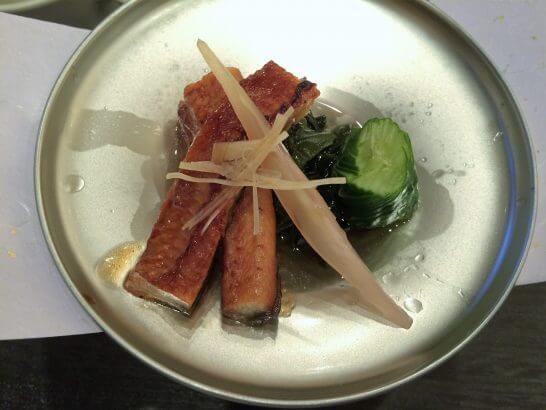 休暇村奥武蔵の夕食の鰻