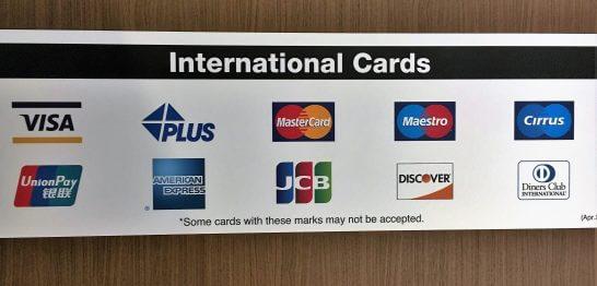 クレジットカードの国際ブランドのロゴ
