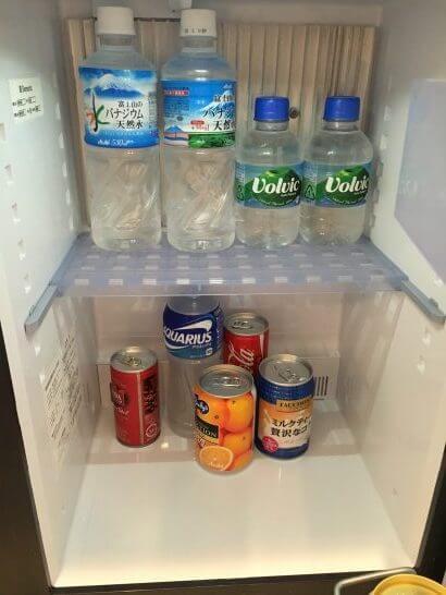 ホテルニューオータニ幕張の冷蔵庫(一休ダイヤモンド会員の特典) (2)