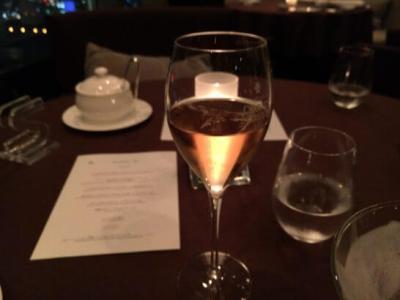 横浜ベイシェラトン ホテル&タワーズのベイ・ビューのシャンパン