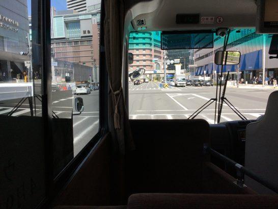 帝国ホテルのシャトルバスの車中