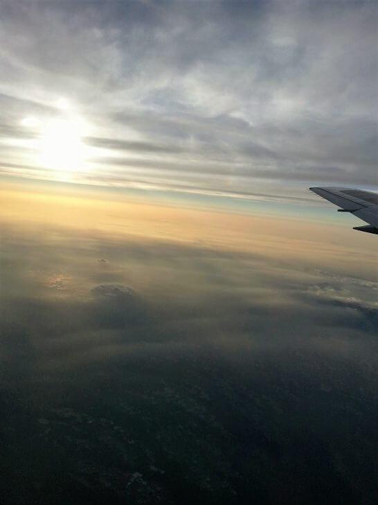 JALの飛行機からの眺め