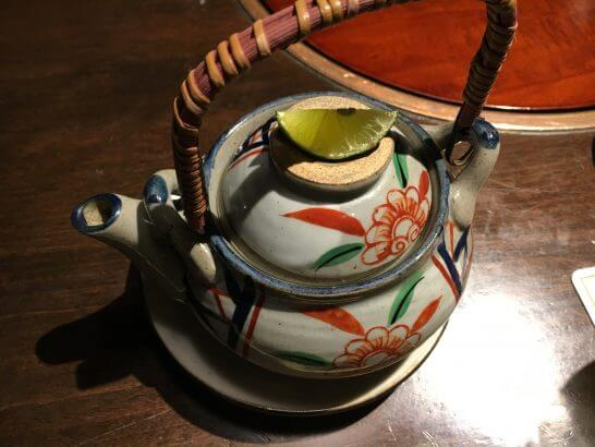 土佐料理 祢保希の松茸の土瓶蒸し