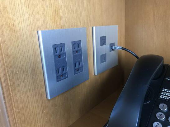 セントレジスホテル大阪の電源コンセント