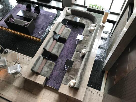 マンダリンオリエンタル東京のVIP席と待合席