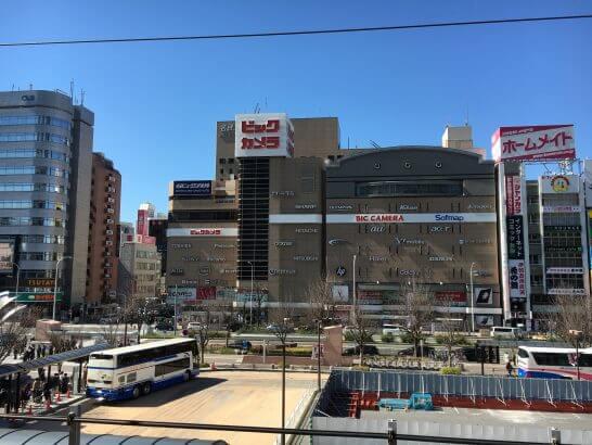 名古屋駅前のビックカメラ