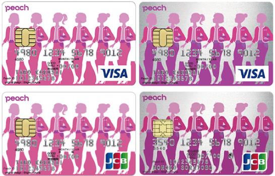 Peach Card(VISAとJCB)