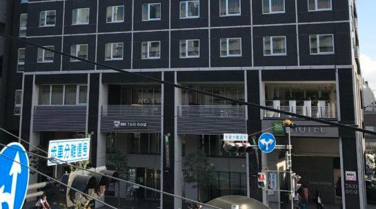京都駅前のMKタクシー乗り場