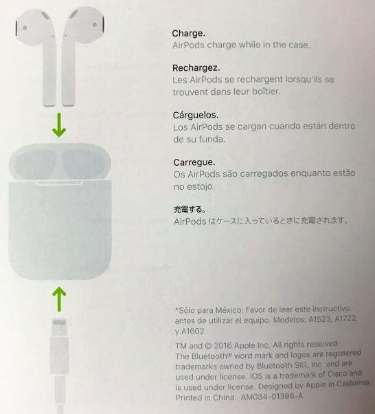 AirPodsの充電の流れ