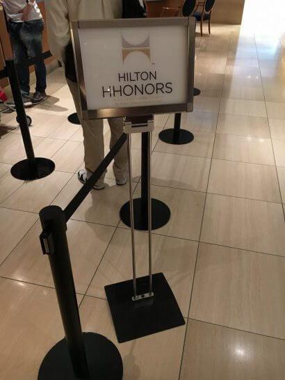 ヒルトン東京ベイのチェックイン(ヒルトンオナーズ会員)