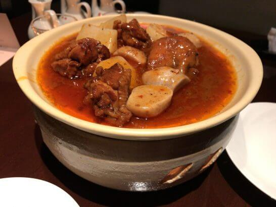 里芋と鶏肉の四川風香辛料入り辛子煮