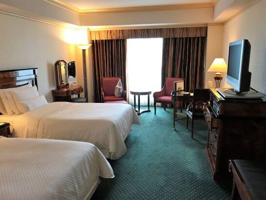 ウェスティンホテル東京のデラックスルームの客室・窓