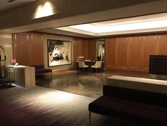 東京マリオットホテルのフロント
