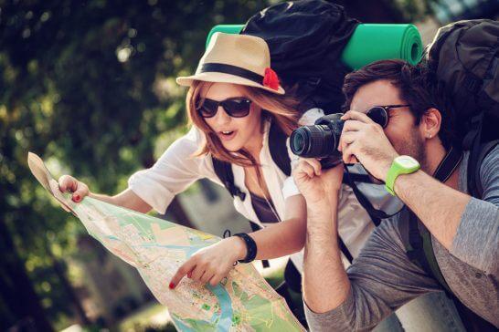 旅行中の旅人