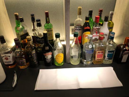 東京マリオットホテルのエグゼクティブラウンジの洋酒