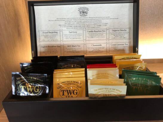 東京マリオットホテルのエグゼクティブラウンジの紅茶