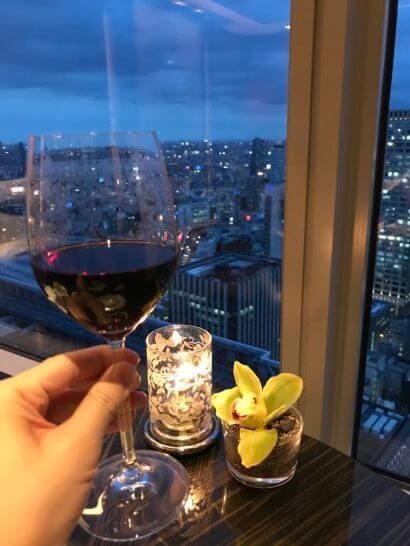 ホライゾンクラブラウンジの赤ワイン
