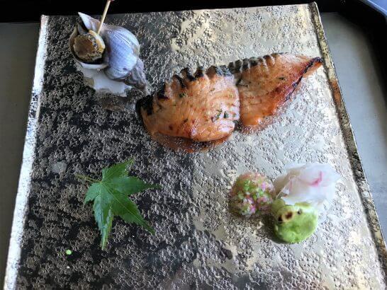 コンラッド東京の風花の「焼物」桜鱒木の芽焼