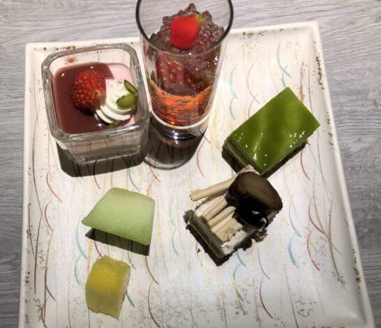 東京マリオットホテルのエグゼクティブラウンジのデザート