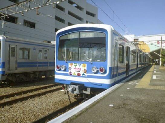 伊豆箱根鉄道の「PASMOのミニロボット」ヘッドマーク特別列車