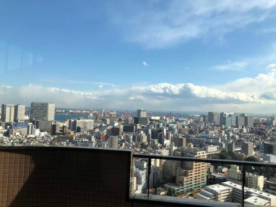 東京マリオットホテルのエグゼクティブラウンジのマドからの眺め (2)