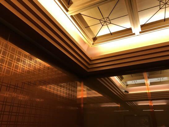 横浜グランドインターコンチネンタルホテルのエレベーター