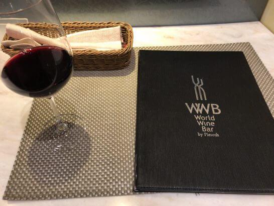 ワールドワインバー by ピーロート(恵比寿三越店)のメニューリストとワイン