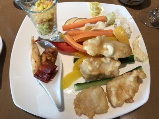 ヒルトン東京お台場のエグゼクティブラウンジの夕食