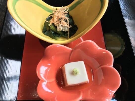 帝国ホテル東京の讃アプローズのお久と胡麻豆腐