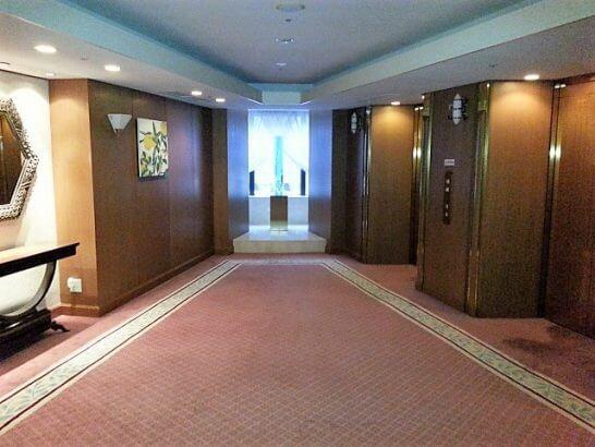 ヒルトン小田原のエレベーターフロア
