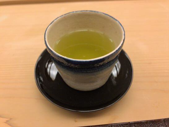 銀座小十のお茶