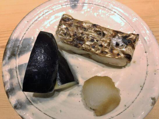 鮨さいとうの太刀魚(タチウオ)とナス