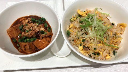 麻婆豆腐と五目炒飯