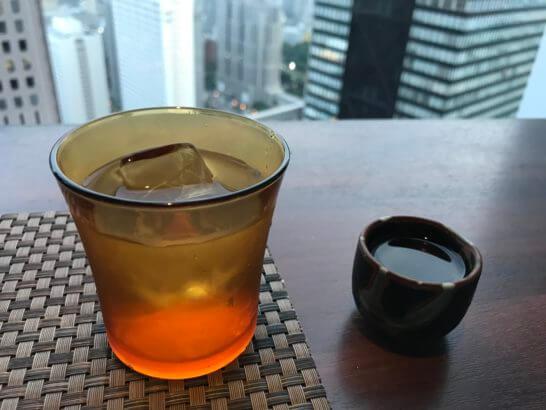 星空の中への日本酒