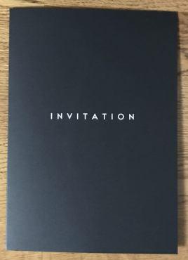 オメガの60周年記念イベントの招待状