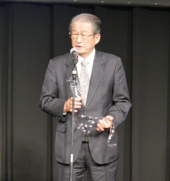 純米大吟醸部門 (1位)のスピーチ