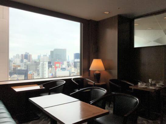 帝国ホテル東京の嘉門のデザートを食べるスペース (1)