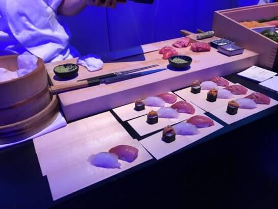 オメガの60周年記念イベントのお寿司