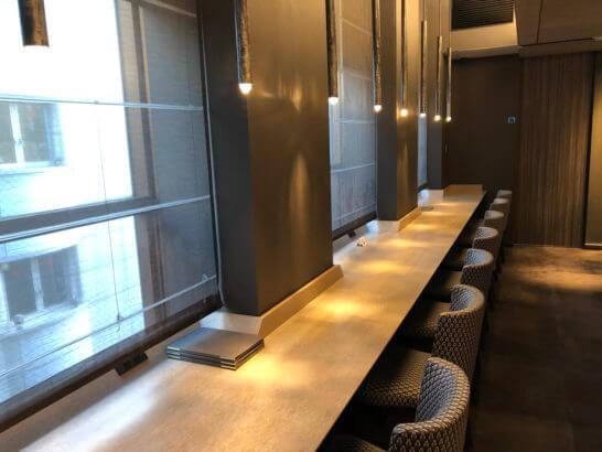 ダイナースクラブ 銀座プレミアムラウンジのラウンジエリアの席